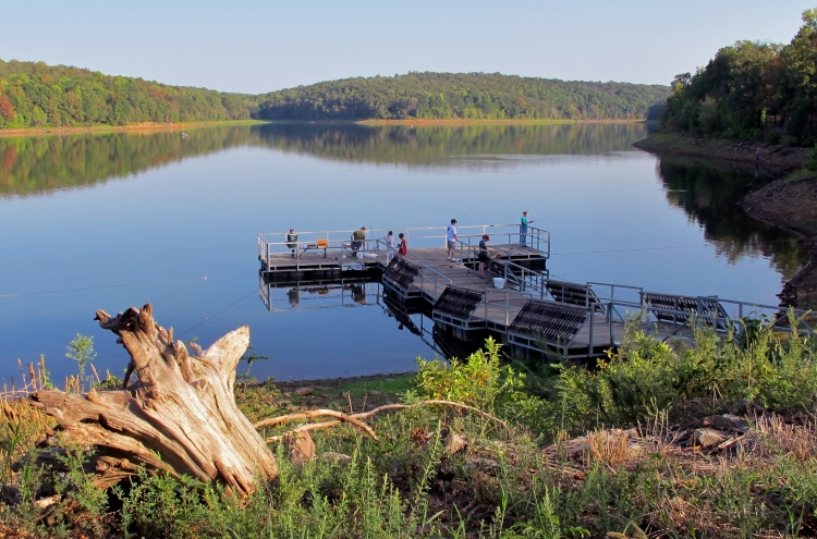 Lake Alma fishing dock