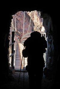 Black bridge tunnel