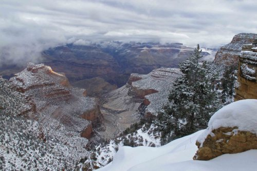 View from close to the top of Bright Angel Trail