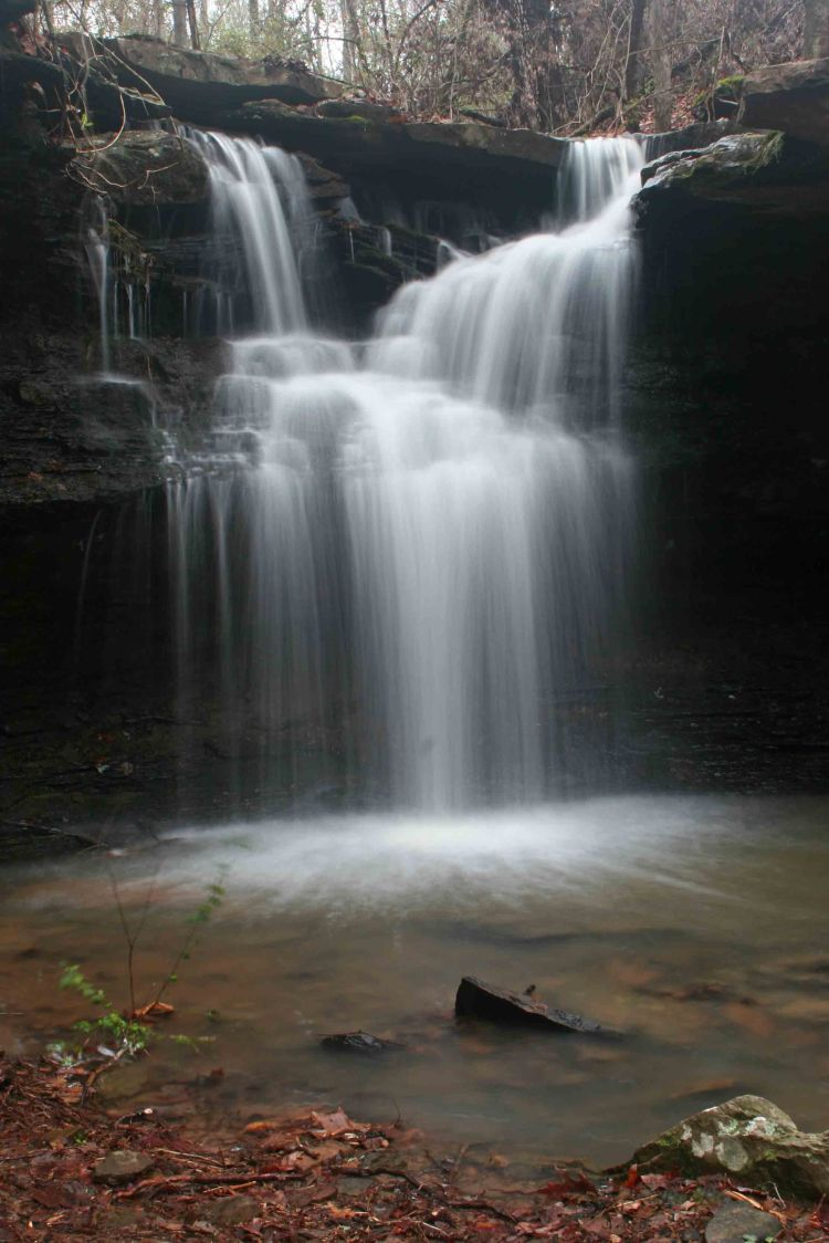 The 12-foot Harry McWater Falls at Lake Alma