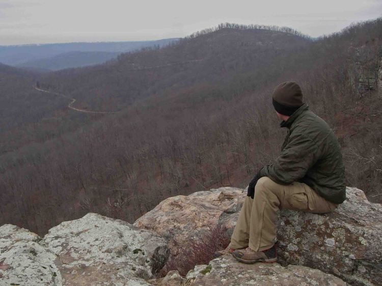 White Rock Mountain, in the Ozark Mountains of Arkansas