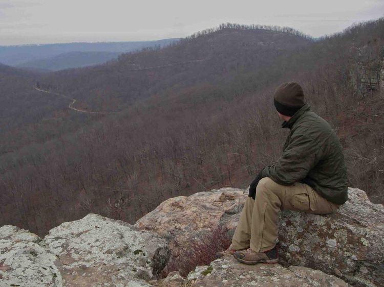 White Rock Mountain, in the Ozark Mountains of Arkansas