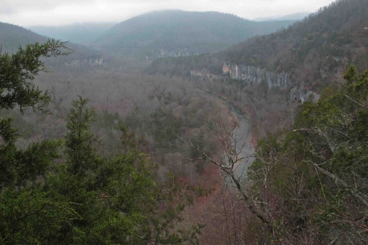 Buffalo River from the trail.