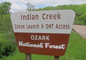 Indian Creek sign