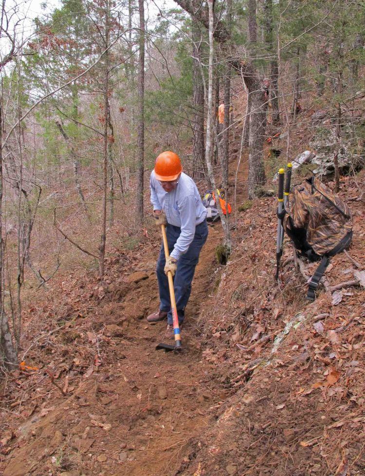 Building the Dawna Robinson Spur Trail.