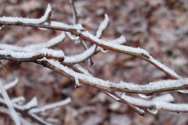 Frosty hiking as temperatures plummet.