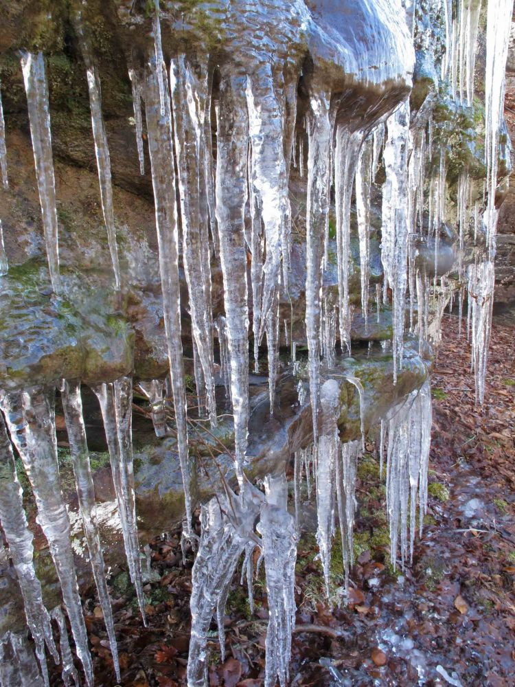 Icy bluffs along the trail.