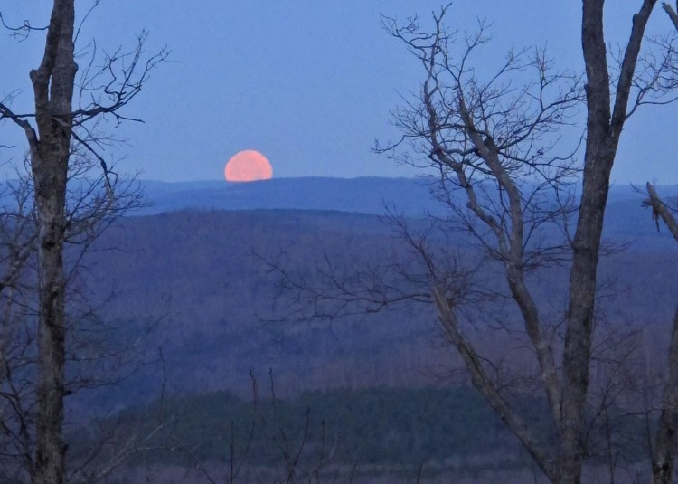Moonset from Fairview Campground.