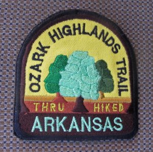 Thru Hike patch earned for hiking the first 165-miles of the OHT.