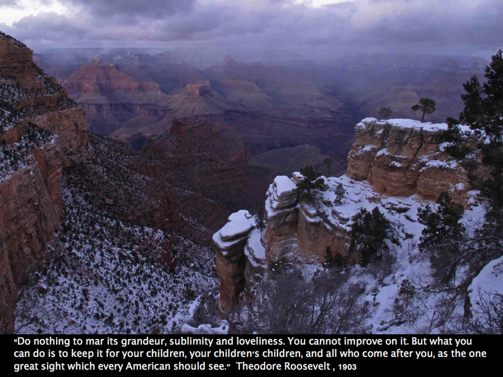 Leave it like it is! | Ozarkmountainhiker Theodore Roosevelt Grand Canyon Quote