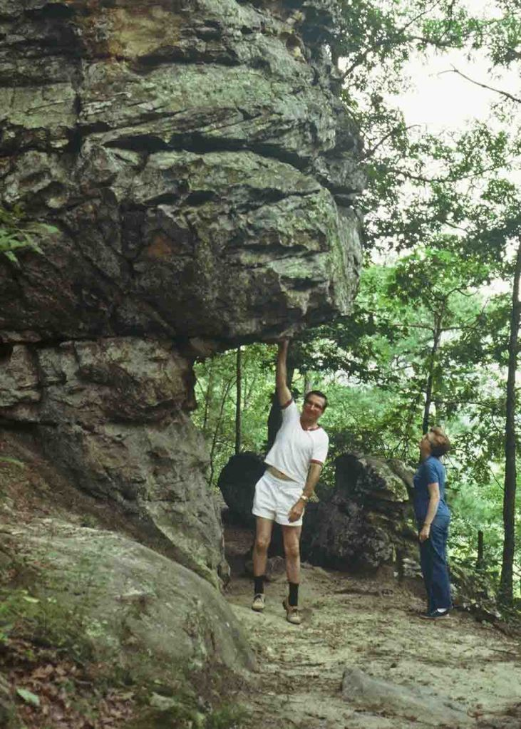 Daddy and mother at Petit Jean State Park during the 1980s.
