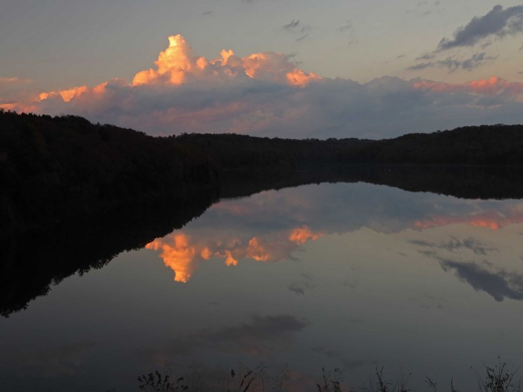 Sunset on the Lake Alma Trail - Water converging with the land and sky.