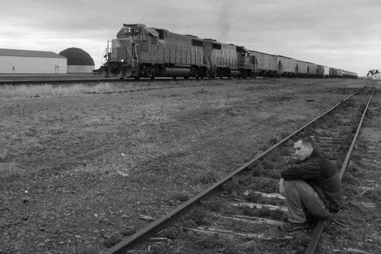 Killing time in Grainfield, Kansas.
