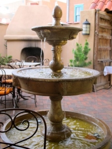 Fountain in the restaurant of the Saint Francis Hotel.