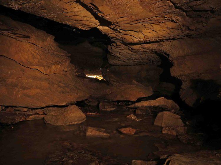 Inside Eden Falls Cave