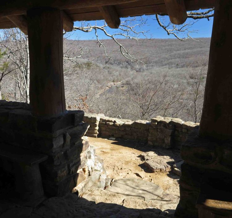 View from the Overlook Shelter