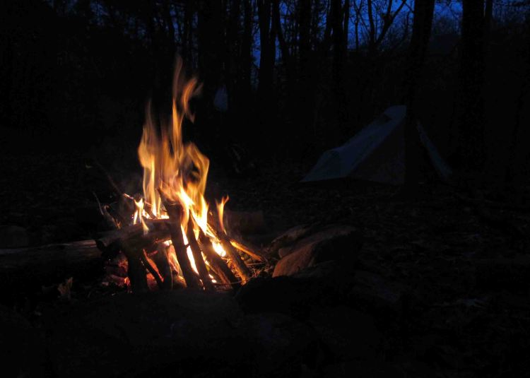 Campfire at the end of the day.