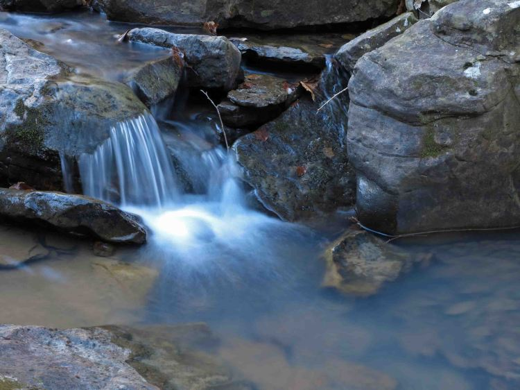 Small cascade in Lynn Hollow, Ozark Highlands Trail