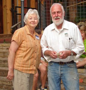 Frank Sharp and his wife sharing Mount Kessler with the Ozark Highlands Trail Association
