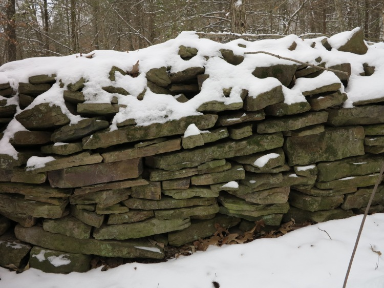 Ozarks homestead stone wall