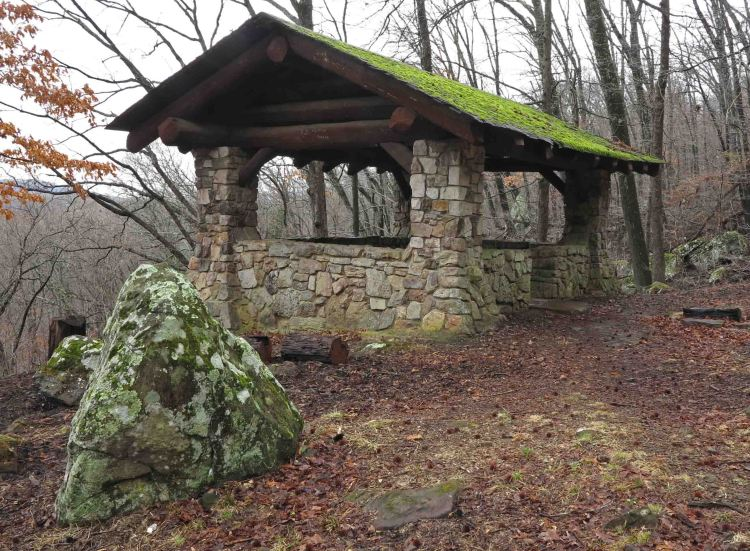 Gray Spring shelter built by the CCC.
