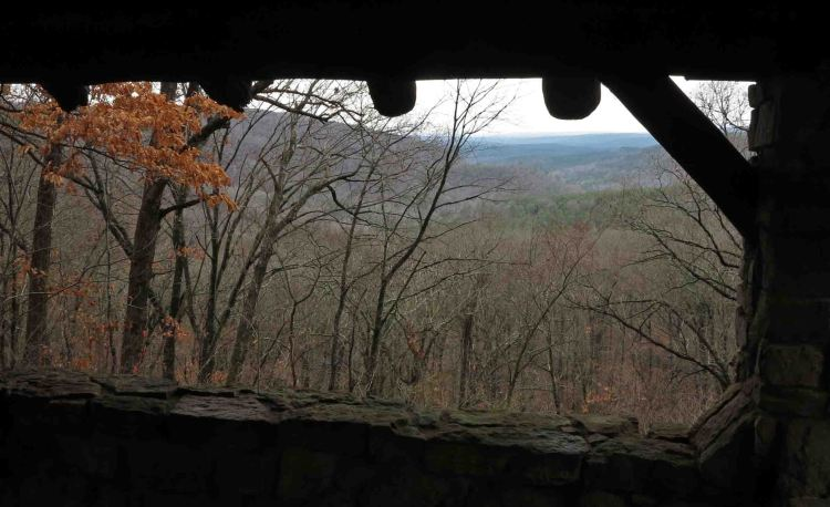 View from the CCC Gray Spring shelter.