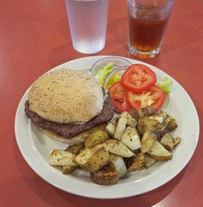 Elk Burger at Arkansas House Cafe
