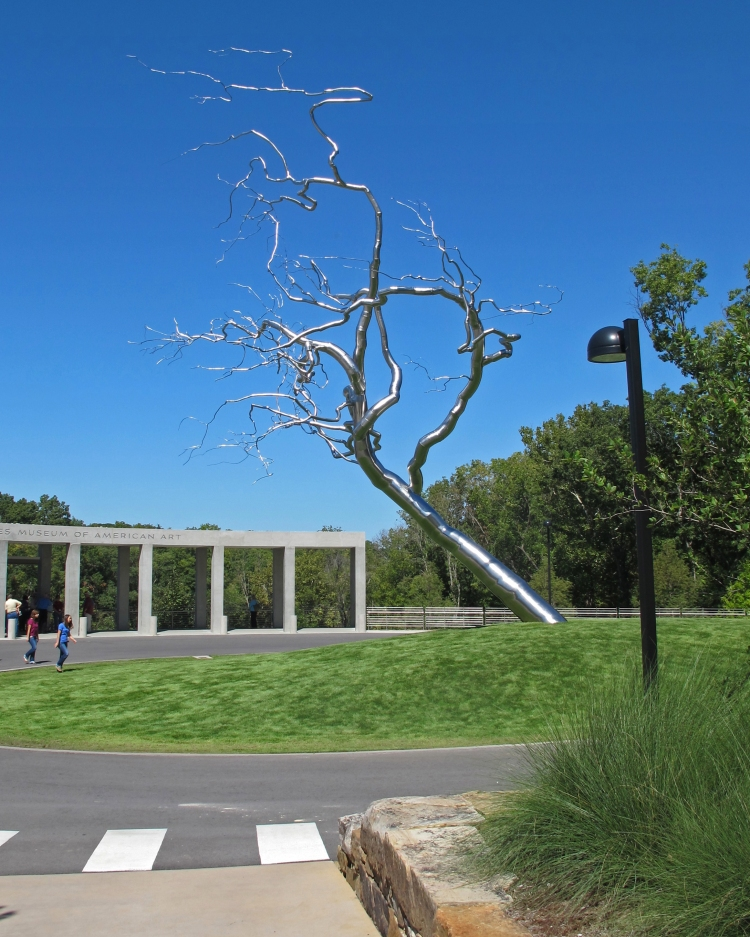 Yield, by Roxy Paine, 2011  Entrance to Crystal Bridges