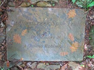 Stone memorial for Dawna Robinson