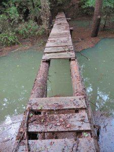 Little Frog Bayou Bridge high water damage.
