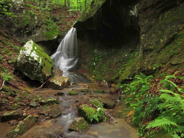 Small falls upstream from Marinoni Falls