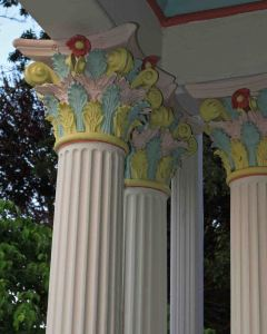 Porch columns in Victorian style