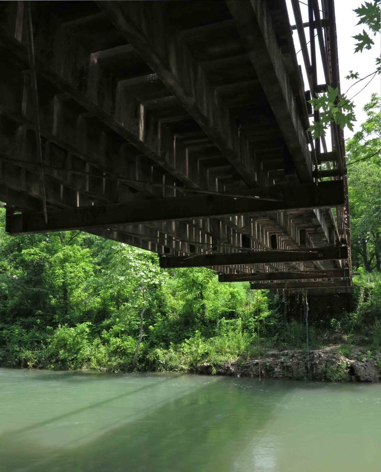 Underneath Flat Creek Bridge
