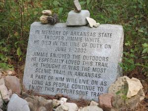 Memorial for Jimmie White, Arkansas State Trooper