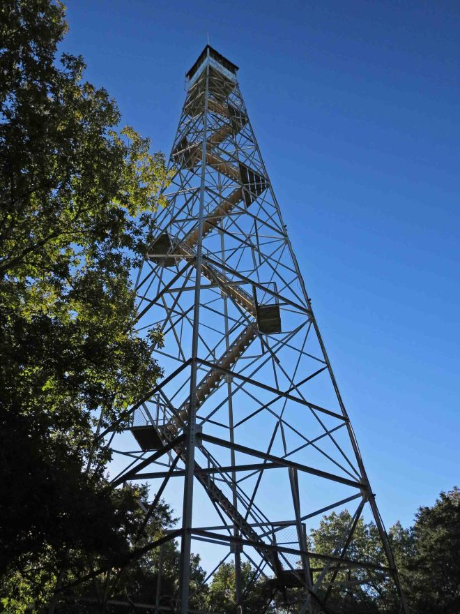 Fire tower at the trailhead off of Hwy 125