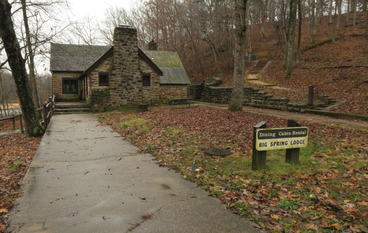 Big Spring Lodge became the trailhead for this hike.