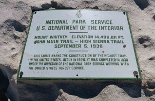 Marker at the summit