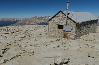 Survey hut at the summit of Mt. Whitney