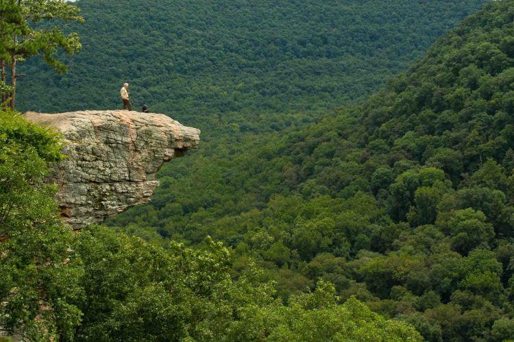 Hiker on Hawksbille Cragr