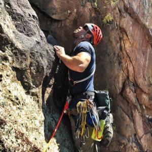 Rick Spicer climbing