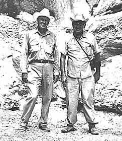 B.H. Warnock and Benny Simpson at Capote Falls